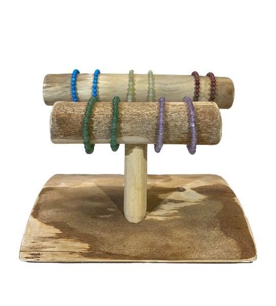 Bracelet pierres fines naturelles - roulées 6 mm