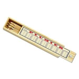 Plumier bois 8 crayons de couleur