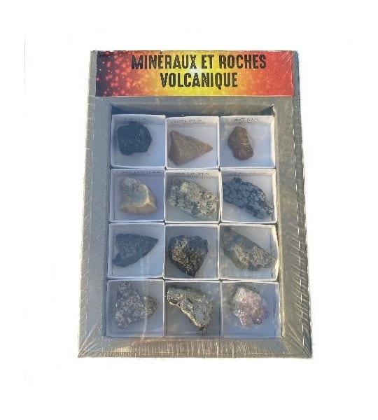 Coffret minéraux et roches volcaniques
