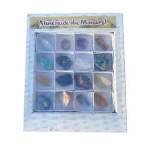 Coffret minéraux du monde