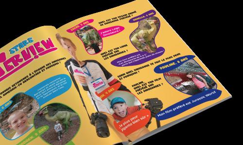 Intérieur du premier magazine Dinopedia